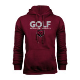 Maroon Fleece Hoodie-Golf Design