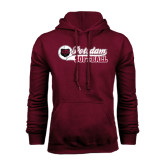 Maroon Fleece Hoodie-Softball Script Design