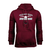 Maroon Fleece Hoodie-Swimming Design