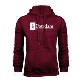 Maroon Fleece Hoodie-Potsdam University Mark - Flat