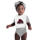 White Baby Bib-Potsdam Bears - Official Logo