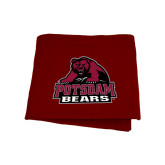 Maroon Sweatshirt Blanket-Potsdam Bears - Official Logo