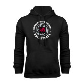 Black Fleece Hoodie-Volleyball Circle Design