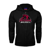 Black Fleece Full Zip Hoodie-Potsdam Bears - Official Logo