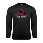 Performance Black Longsleeve Shirt-Potsdam Bears - Official Logo