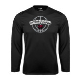 Performance Black Longsleeve Shirt-Basketball in Ball Design
