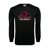 Black Long Sleeve TShirt-Potsdam Bears - Official Logo