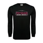 Black Long Sleeve TShirt-Hockey