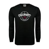 Black Long Sleeve TShirt-Basketball in Ball Design