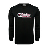 Black Long Sleeve TShirt-Softball Script Design
