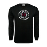 Black Long Sleeve TShirt-Volleyball Circle Design