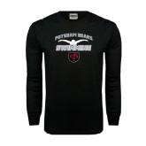 Black Long Sleeve TShirt-Swimming Design