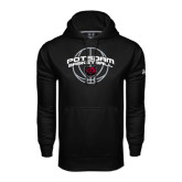Under Armour Black Performance Sweats Team Hoodie-Basketball in Ball Design
