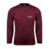 Performance Maroon Longsleeve Shirt-Crane School of Music