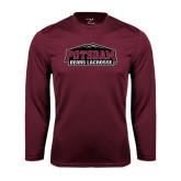 Performance Maroon Longsleeve Shirt-Lacrosse