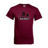 Maroon T Shirt-Potsdam Bears - Official Logo