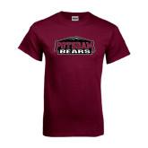 Maroon T Shirt-Potsdam Bears w/ Mountains
