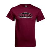 Maroon T Shirt-Hockey
