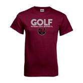 Maroon T Shirt-Golf Design