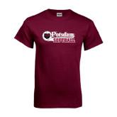Maroon T Shirt-Softball Script Design