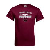 Maroon T Shirt-Swimming Design