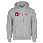 Grey Fleece Hoodie-Potsdam University Mark - Flat