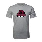 Grey T Shirt-Potsdam Bears - Official Logo