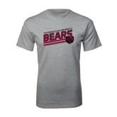 Grey T Shirt-Slanted Potsdam State University Bears w/ Bear Head