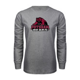 Grey Long Sleeve T Shirt-Potsdam Bears - Official Logo