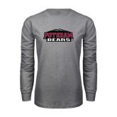 Grey Long Sleeve T Shirt-Potsdam Bears w/ Mountains