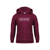 Youth Maroon Fleece Hoodie-Crane School of Music