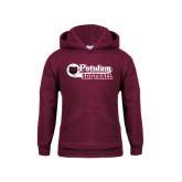 Youth Maroon Fleece Hoodie-Softball Script Design