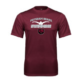 Performance Maroon Tee-Swimming Design