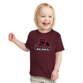 Toddler Maroon T Shirt-Potsdam Bears - Official Logo