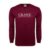 Maroon Long Sleeve T Shirt-Crane School of Music