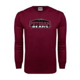 Maroon Long Sleeve T Shirt-Potsdam Bears w/ Mountains