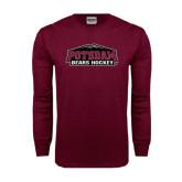 Maroon Long Sleeve T Shirt-Hockey