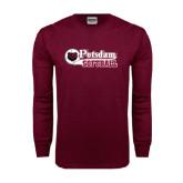 Maroon Long Sleeve T Shirt-Softball Script Design