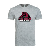 Next Level SoftStyle Heather Grey T Shirt-Potsdam Bears - Official Logo
