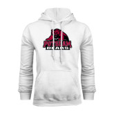 White Fleece Hoodie-Potsdam Bears - Official Logo