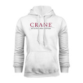 White Fleece Hoodie-Crane School of Music