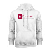 White Fleece Hoodie-Potsdam University Mark - Flat