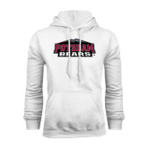 White Fleece Hoodie-Potsdam Bears w/ Mountains