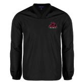 V Neck Black Raglan Windshirt-Potsdam Bears - Official Logo