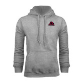 Grey Fleece Hoodie-Potsdam Bears - Official Logo