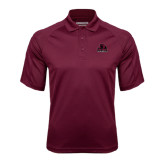 Maroon Textured Saddle Shoulder Polo-Potsdam Bears - Official Logo