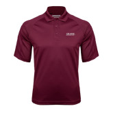 Maroon Textured Saddle Shoulder Polo-Crane School of Music
