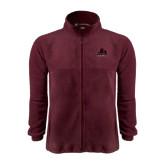 Fleece Full Zip Maroon Jacket-Potsdam Bears - Official Logo