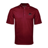 Maroon Mini Stripe Polo-Potsdam Bears - Official Logo