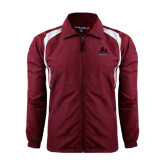 Colorblock Maroon/White Wind Jacket-Potsdam Bears - Official Logo